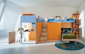 Lit Mezzanine Enfant : mezzanine lit enfant 287049 ~ Teatrodelosmanantiales.com Idées de Décoration