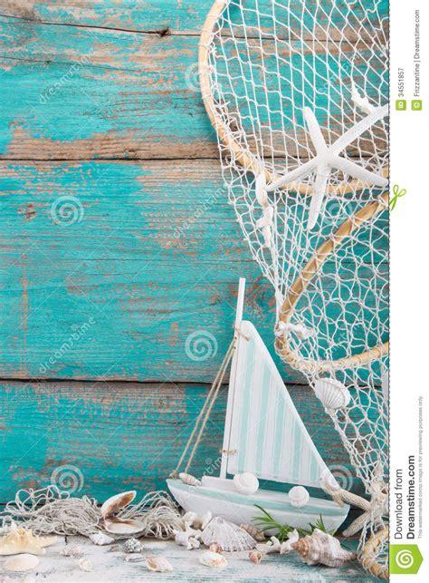 sailboat  shells  fishing net  turquoise