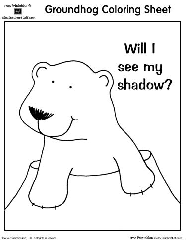 groundhog day coloring sheet will i see my shadow