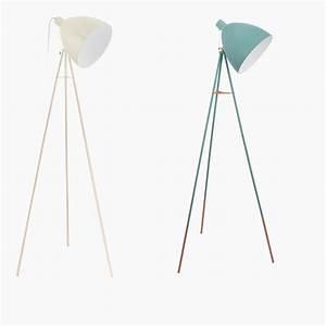Stehlampe Retro Design : dreibein stehleuchte im retro design sandfarben oder mint wohnlicht ~ Bigdaddyawards.com Haus und Dekorationen