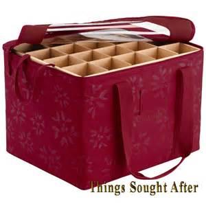 ornament organizer christmas holiday container holder box storage bin decoration