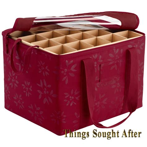 ornament organizer christmas holiday container holder box