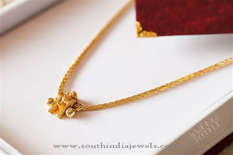 Gold Thali Kodi (Mangalsutra) Design ~ South India Jewels