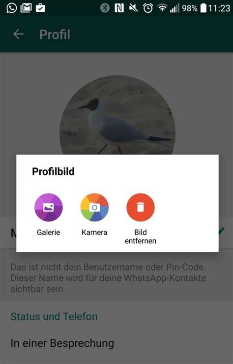 whatsapp die richtige groesse fuer das profilbild