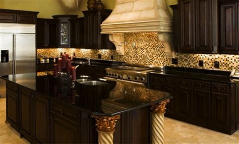darkening kitchen cabinets black granite countertops the royal appeal style house 3102