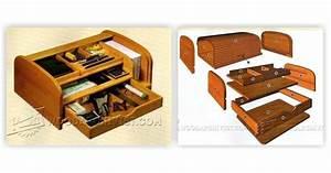 Tambour Desk Organizer Plans • WoodArchivist