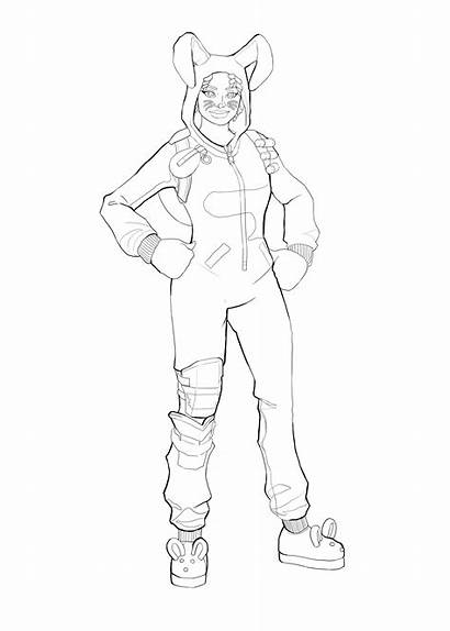 Fortnite Coloring Skin Pages Bunny Brawler Colouring
