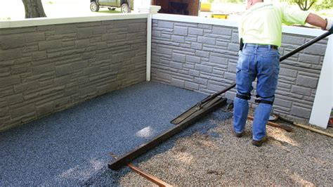 pea gravel patio construction porous pave patio finished in two hours 171 porous