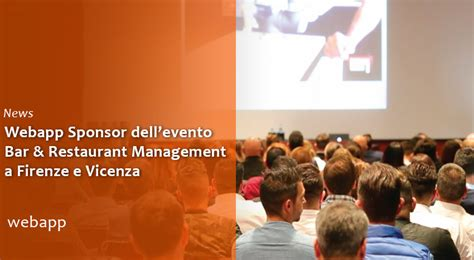 am駭agement bar cuisine webapp tra gli sponsor dell 39 evento bar restaurant management