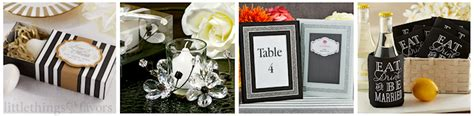 black and white wedding favors black white wedding theme