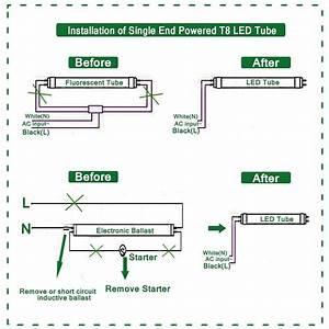 Led Fluorescent Tube Wiring Diagram