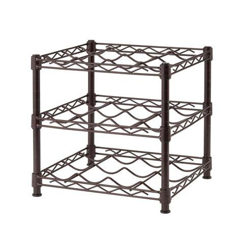 home depot wine rack hdx 3 shelf countertop wire wine rack in antique bronze