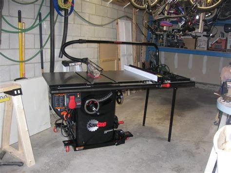 sawstop table saw dimensions router table extension for sawstop canadian woodworking