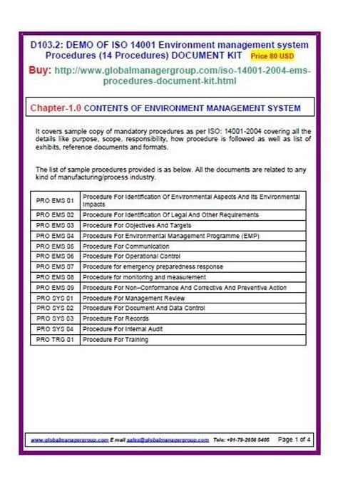 standard procedures  procedures document kit