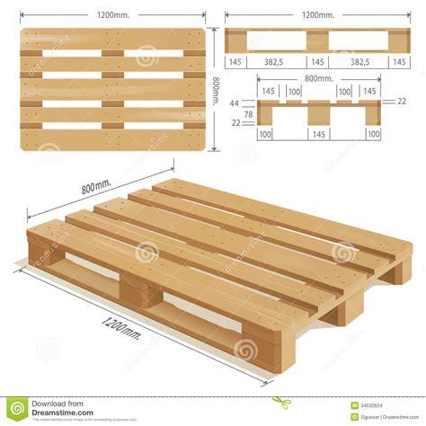 wooden pallet stock vector illustration  loading