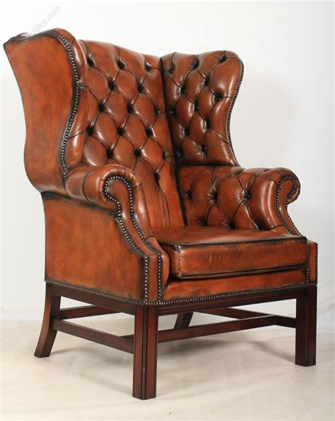 leather recliners antique pair of large leather wing chairs antiques atlas 3700