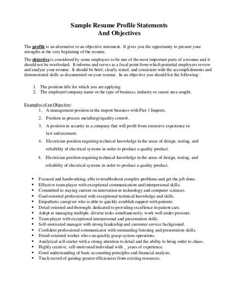 sle resume objective 8 exles in pdf