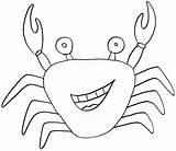 Crab Coloring Pages Printable Sea Animal Hermit Print Fargelegge Tegninger Krabbe Animals Colouring Sheets Fish Fastseoguru Total Views Getcoloringpages Getcolorings sketch template