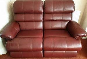 Leather  Genuine Lazy Boy Reclining Sofa  U0026 Reclining Chair