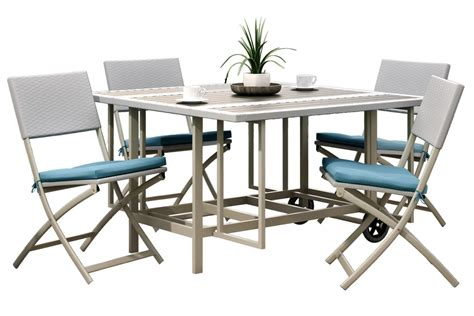 Nantucket 5piece Stowable Folding Patio Dining Set At. Square Coffee Table Plans. White Office Desk With Drawers. Expandable Tables For Small Spaces. Citidirect Help Desk
