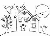 Haunted Coloring Drawing Halloween Cartoon Pages Easy Houses Colouring Simple Printable Draw Bigactivities Clipart Library Print Preschoolers Getdrawings Clip Popular sketch template