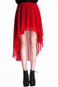 Fashion Red Skirt