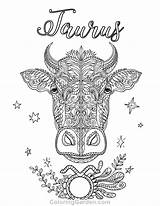 Coloring Taurus Pages Zodiac Adult Printable Adults Mandala Capricorn Coloringgarden Sheets Colour Astrology Fairy Horoscope Signs Pdf Animal Shadows Sign sketch template