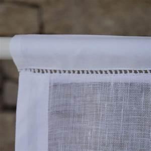 Store En Lin : brise bise gordes en lin blanc maison d 39 t ~ Edinachiropracticcenter.com Idées de Décoration