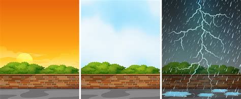 Three background scenes at different seasons 431886 ...