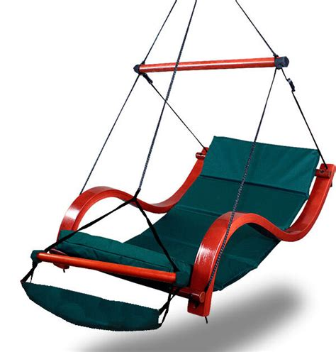 Hammock Air Chair new deluxe green hammock air chair padded hanging lounge