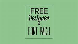 Free Designer Font Pack      Designography  Best Commercial