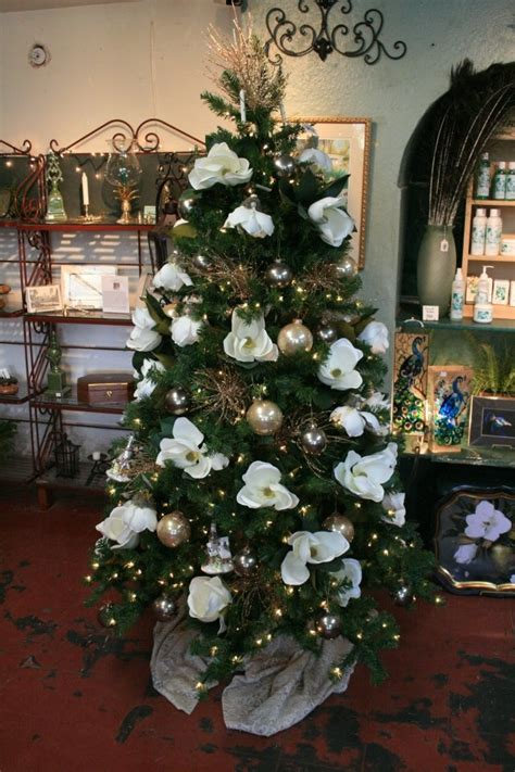 magnolia southern christmas tree holidays pinterest