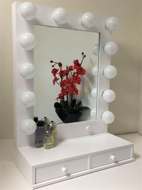 Vanity Lighted Mirror by Vogue Lighted Makeup Vanity Mirror With Drawers