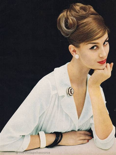 charm magazine 1959 vintage 50s hair make up 1950s