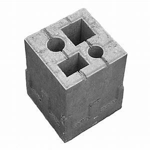 Zaun Aus Beton : zaun fundamentstein 4in1 grau 19 x 19 x 25 cm beton ~ A.2002-acura-tl-radio.info Haus und Dekorationen