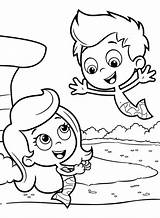 Bubble Coloring Guppies Pages Molly Mermaid Gil Printables Puppy Underwater sketch template