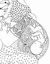 Coloring Pregnant Graphic Pregnancy Colouring Birth Adult Mom Drawing Mother Journal Child Kunst Geburt Sheets Colors Getcolorings Colorier Yahoo Livres sketch template