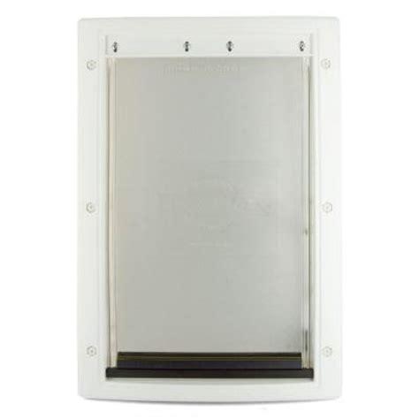 pet doors home depot petsafe 13 5 8 in x 23 in x large white plastic pet door