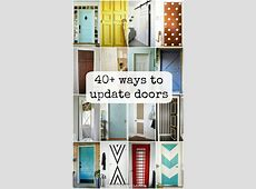 Remodelaholic 40+ Ways to Update Flat Doors and Bifold Doors