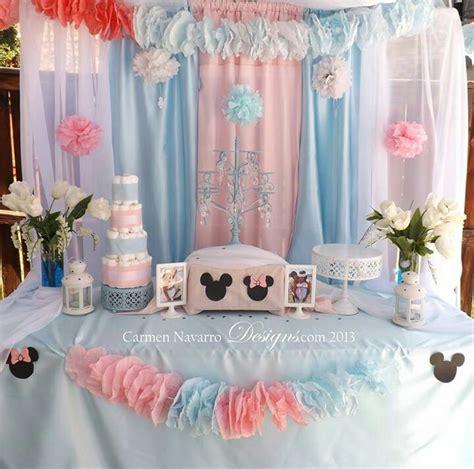 minnie mickey baby shower twins pink blue