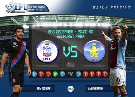 Crystal Palace V Aston Villa Match Preview - EPL Index ...