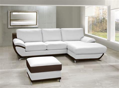 canape d angle bicolore canapé cuir d 39 angle mojo