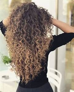 Women Long Curly Wig Synthetic Hair Wigs Ombre Black ...