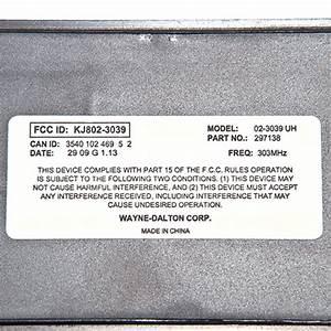 Wayne Dalton 297138 Quantum Wireless Keypad