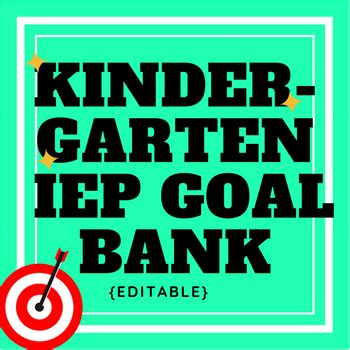 kindergarten iep goal bank editable by militello 909 | original 1389745 1
