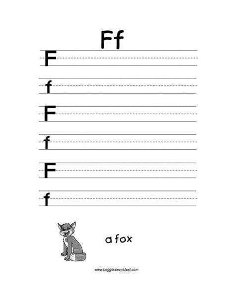 letter f alphabet worksheets