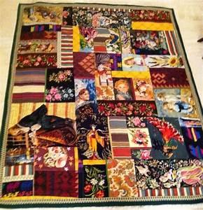 Canevas Pour Tapis : m lange de canevas et tissus vintage recycl s pour en faire un tapis tapis canevas m li m lo ~ Farleysfitness.com Idées de Décoration