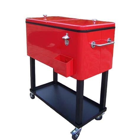 patio cooler cart oakland living 80 qt steel patio cooler cart 90010 rd