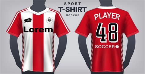Psd file consists of smart. Soccer Jersey and Sport T-Shirt Mockup Template ...
