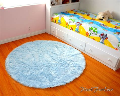 Area Rugs For Baby Room by Baby Blue Area Rug 5 Faux Fur Shaggy Throw Rugs Baby